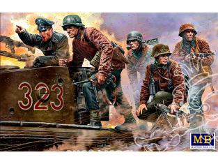 MB maquette militaire 35218 Personnages Armée Allemande la mitrailleuse est là 1944-1945 1/35