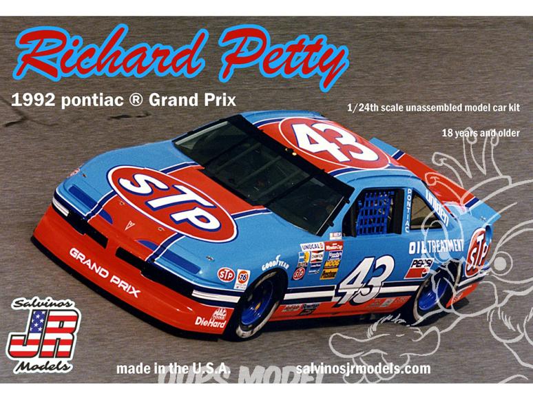 JR Models maquette voiture 1992A Richard Petty 1992 Pontiac GP 1/25
