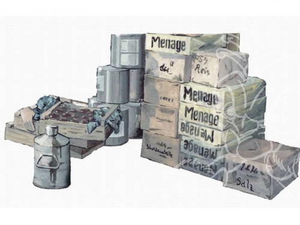 CMK diorama 72128 CAISSES DE RAVITAILLEMENT 1/72