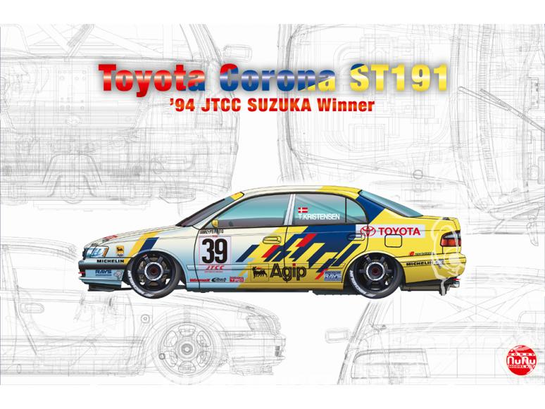 NuNu maquette voiture de Rallye PN24020 TOYOTA CORONA ST191 '94 JTCC vainqueur SUZUKA 1/24
