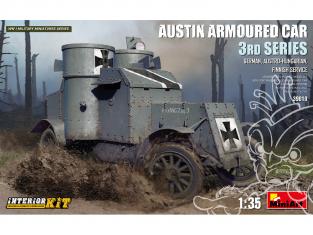 MINI ART maquette militaire 39010 VOITURE BLINDÉE AUSTIN 3e SÉRIE SERVICE ALLEMANDE KIT INTÉRIEUR 1/35