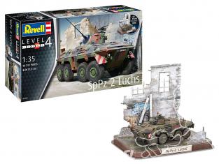 Revell maquette militaire 03321 SpPz2 Luchs et 3D Puzzle Diorama 1/35