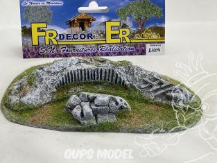 Fr decor 21004 Décor diorama pierre reconstituée Roches sculptée 170x110mm Fabriqué en France