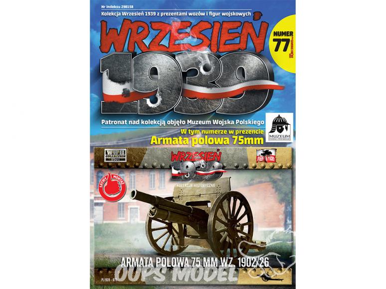 First to Fight maquette militaire pl077 canon de campagne de 75 mm wz.1902-1926 1/72