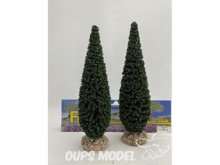 Fr Décor arbres 61691 deux Cyprès de provence tronc bois 150mm Made in France