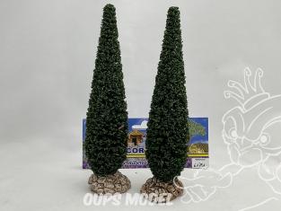Fr Décor arbres 61791 deux Cyprès de provence tronc bois 180mm Made in France