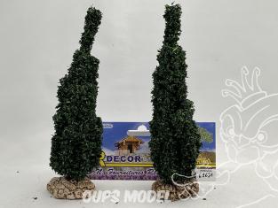 Fr Décor arbres 62691 deux Cyprès Italien tronc bois 150mm Made in France