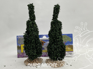 Fr Décor arbres 62591 deux Cyprès Italien tronc bois 120mm Made in France