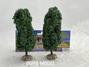 Fr Décor arbres 31391 deux Peupliers tronc bois 120mm Made in France