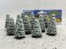 Fr Décor arbres 9605/E Douze sapins ecouvillons enneigés 50mm
