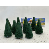 Fr Décor arbres 9607/V Dix sapins ecouvillons 70mm