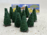 Fr Décor arbres 9605/V Douze sapins ecouvillons 50mm