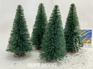 Fr Décor arbres 9616/V Quatre sapins ecouvillons 160mm