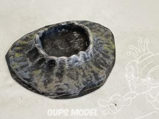 Fr decor 99313 Décor diorama plastique cratere 150x130mm Fabriqué en France
