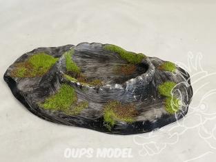 Fr decor 99312 Décor diorama plastique cratere 185x135mm Fabriqué en France