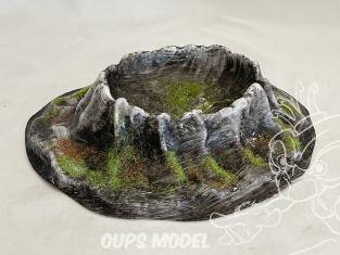 Fr decor 99311 Décor diorama plastique cratere 195x180mm Fabriqué en France