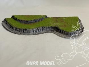 Fr decor 99303 Décor diorama plastique colline 280x200mm Fabriqué en France