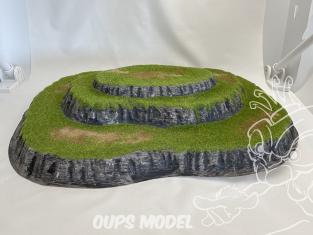 Fr decor 99101 Décor diorama plastique colline 480x340mm Fabriqué en France