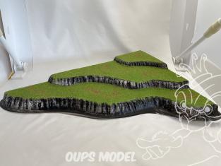 Fr decor 99102 Décor diorama plastique colline 520x360mm Fabriqué en France