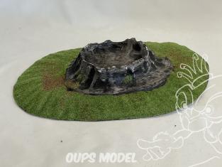 Fr decor 99411 Décor diorama plastique cratère 335x225mm Fabriqué en France