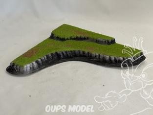 Fr decor 99205 Décor diorama plastique colline 220x221mm Fabriqué en France