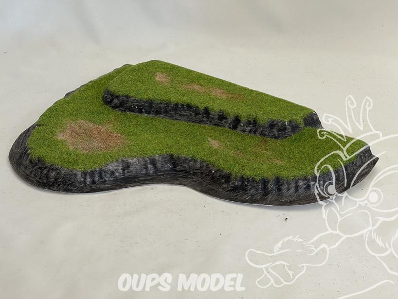 Fr decor 99203 Décor diorama plastique colline 280x200mm Fabriqué en France