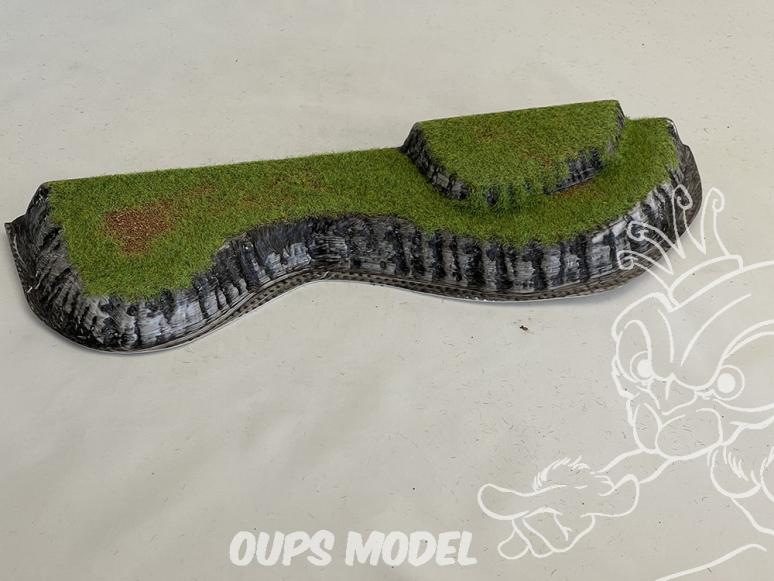 Fr decor 99302 Décor diorama plastique colline 280x80mm Fabriqué en France
