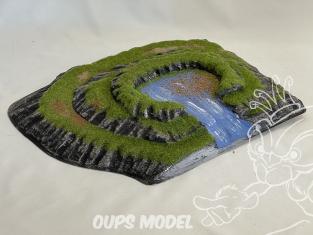 Fr decor 99210 Décor diorama plastique riviere lac 335x270mm Fabriqué en France