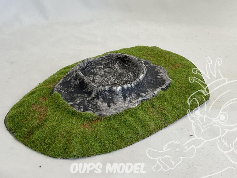 Fr decor 99412 Décor diorama plastique cratère 285x180mm Fabriqué en France