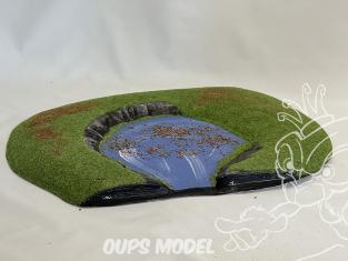 Fr decor 99216 Décor diorama plastique lac 370x285mm Fabriqué en France