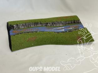 Fr decor 99215 Décor diorama plastique riviere 345x235mm Fabriqué en France