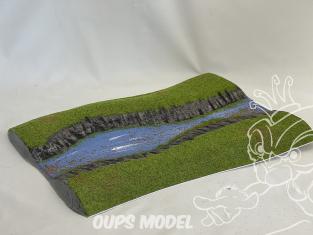Fr decor 99214 Décor diorama plastique riviere 345x240mm Fabriqué en France