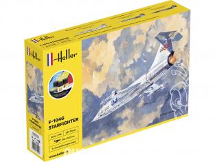HELLER maquette avion 35520 STARTER KIT F-104G Starfighter inclus peintures principales colle et pinceau 1/48