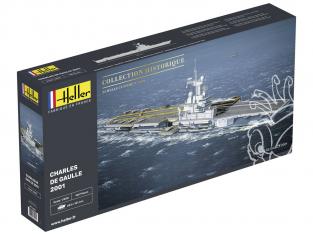 Heller maquette bateau 81072 Charles de Gaulle 2001 1/400