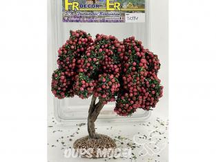 Fr Décor arbres 91591 Arbre fruitier double branche pommier rouge tronc bois 110mm Made in France