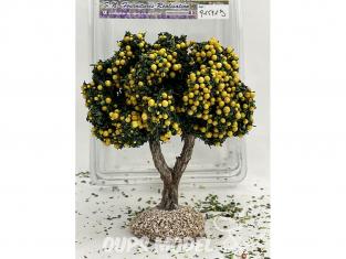 Fr Décor arbres 91591J Arbre fruitier double branche pommier jaune tronc bois 110mm Made in France