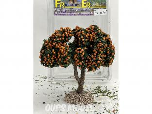 Fr Décor arbres 91591O Arbre fruitier double branche Oranger tronc bois 110mm Made in France