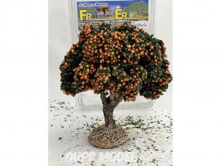 Fr Décor arbres 91691O Arbre fruitier double branche Oranger tronc bois 140mm Made in France