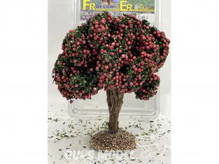 Fr Décor arbres 91691 Arbre fruitier double branche pommier rouge tronc bois 140mm Made in France