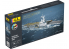 Heller maquette bateau 57072 STARTER KIT Charles de Gaulle 2001 inclus peintures principales colle et pinceau 1/400