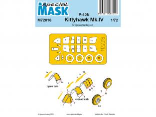 Special Hobby Masque avion M72016 Masque P-40N/Kittyhawk Mk.IV 1/72