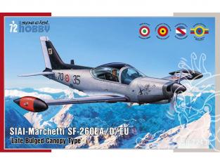 Special Hobby maquette avion 72433 SIAI-Marchetti SF-260EA / D / EU Type à Verrière tardif à renflement 1/72