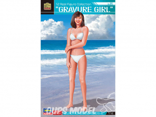 Hasegawa maquette figurine 52280 12 Collection de figurines réelles n°05 « Gravure Girl » 1/12