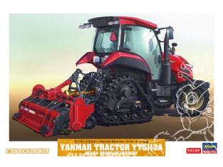 Hasegawa maquette agricole 66107 Tracteur Yanmar YT5113A Delta Crawler avec fraise rotative 1/35