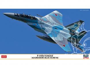 Hasegawa maquette avion 02367 F-15DJ Eagle « Aggressor Blue Scheme » 1/72