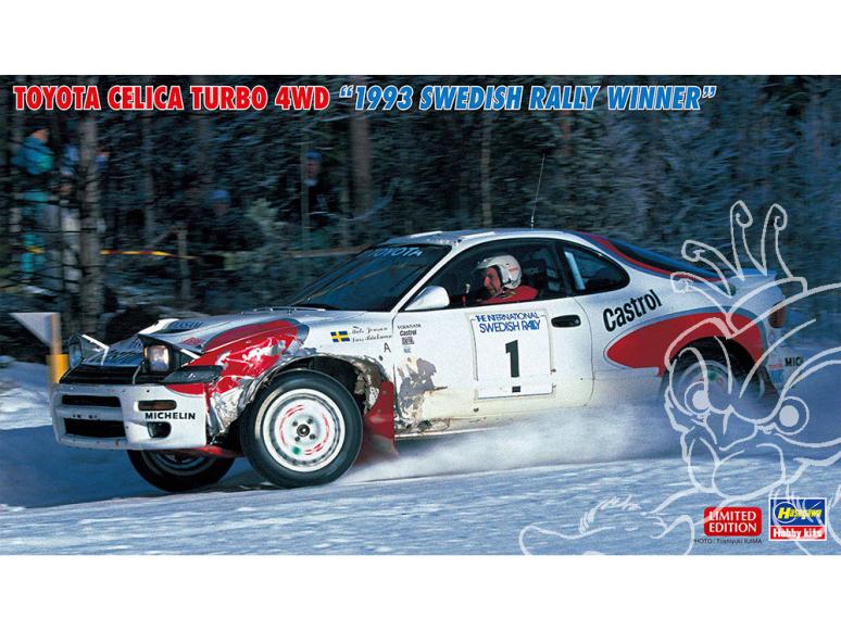 Hasegawa maquette voiture 20484 Toyota Celica Turbo 4WD Vainqueur du Rallye de Suède 1993 1/24
