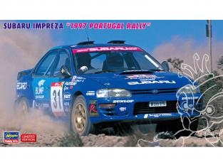 "Hasegawa maquette voiture 20483 Subaru Impreza ""Rallye du Portugal 1997"" 1/24"