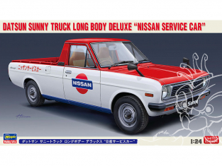 Hasegawa maquette voiture 20482 Datsun Sunny Truck Long Body Deluxe Nissan Service Car 1/24