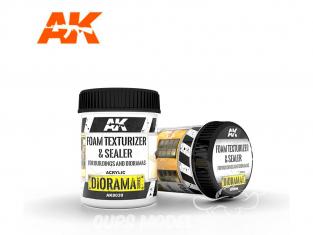 AK interactive ak8039 Texturant & scellant pour mousse - Pour bâtiments et dioramas 250ML