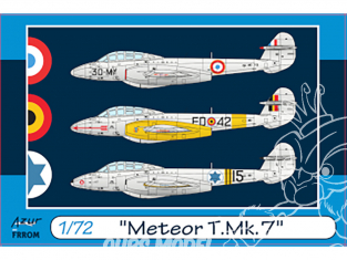 Frrom maquettes avions 0045 Meteor T.Mk.7 1/72